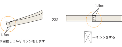 スカート 平ゴムとめ2