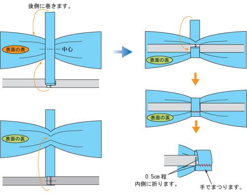 蝶ネクタイ 縫製4_5